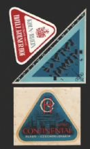 3 Hotel label luggage labels baggage Triangle shaped